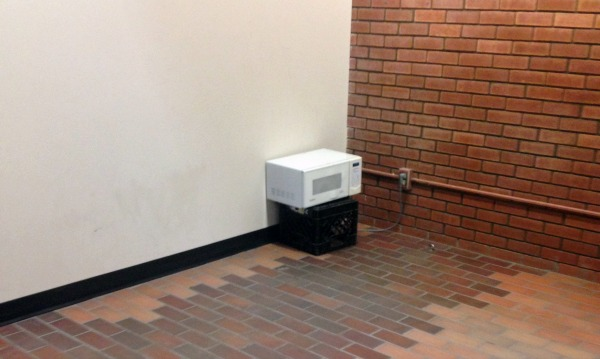 The lonely campus microwave