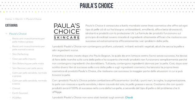 skinshop.it paula's choice in italia