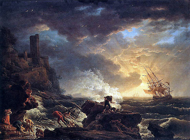 Joseph Vernet, 1759, Shipwreck; the 18th century 'sublime'_psartworks.in