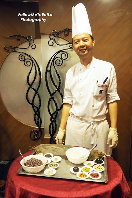 demonstration on dumplings making by Chef Kong.