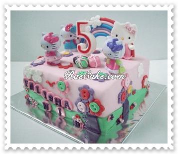 Hello Kitty Cake For Falisha Kue Ulang Tahun Birthday