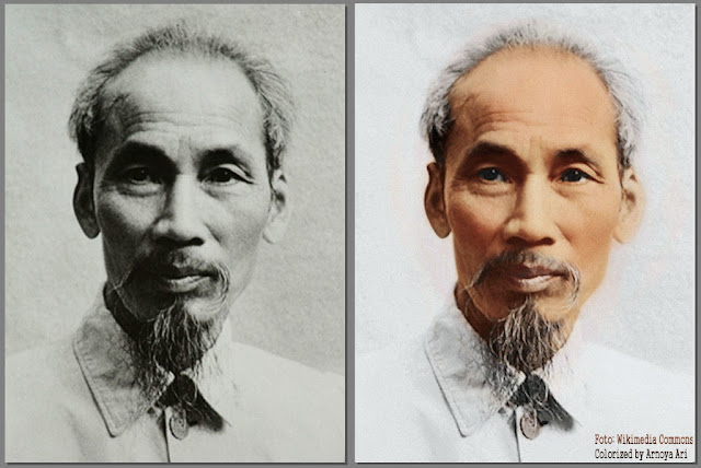 Ho Tši Minh,  color, colorization, colorized