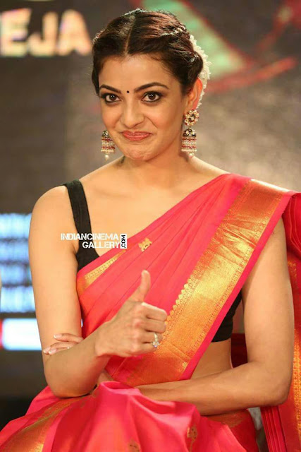 IMG 20170803 WA0413 - Kajal Agarwal Sexy Photos In Hot Red Saree For Nene Raju Nene Mantri Movie Promotion