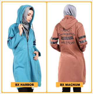Hijacket Beautix Jaket Hijab [Premium Fleece + Hoodie Zipper] M fit L, XL & XXL