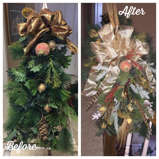 Christmas stair case arrangements get a fresh look