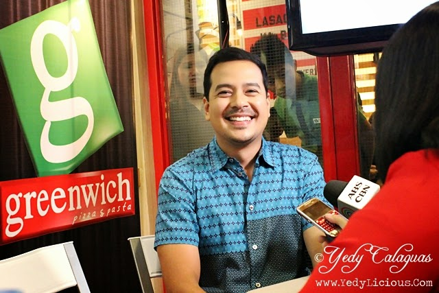 John Lloyd Cruz Invites Everyone to Enjoy Pizza and Pasta at the New Greenwich Pizzeria in SM City North Edsa