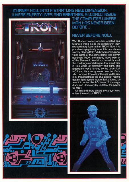 Publicidad videojuego Tron - 1982