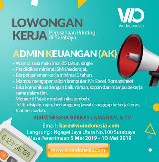 Lowongan Kerja di VIO Indonesia Terbaru Mei 2019