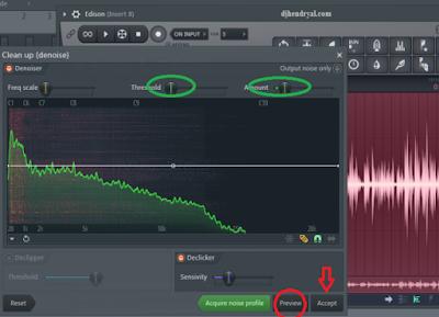 Proses hapus noise di FL studio