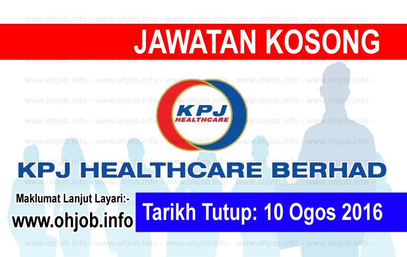 Jawatan Kerja Kosong KPJ Healthcare Berhad logo www.ohjob.info ogos 2016