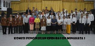 Komisi Penginjilan GPDI Minahasa I dilantik
