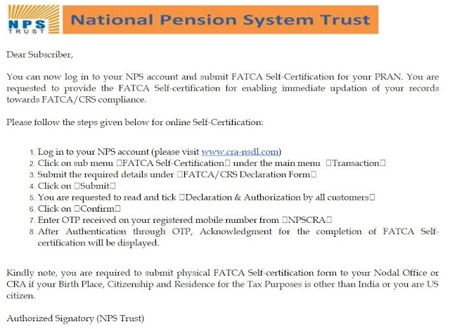 Fatca E-Mail