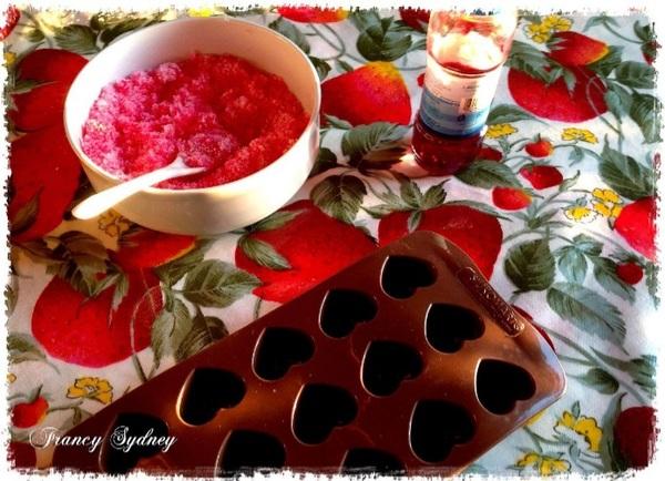 Cuori di zucchero rosa per una bomboniera handmade