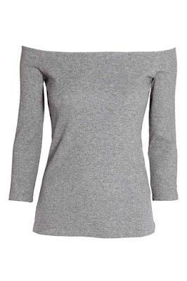 top z odkrytymi ramionami hit lata 2016 wyprzedaż H&M bluzka z dekoltem hiszpańskim