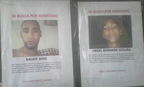 Policía Nacional identifica los presuntos matadores de Gustavo López hecho ocurrido en los solares de Milton