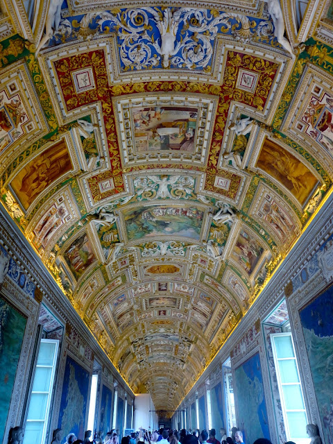 Ceiling fresco inside the Vatican | Rome, Italy