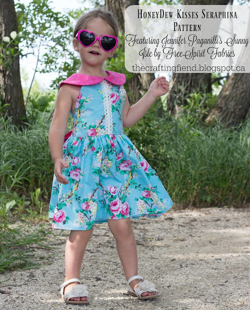 Pattern and Fabric Pairing Feature: Sewing up Sunny Isle with HoneyDew Kisses Seraphina