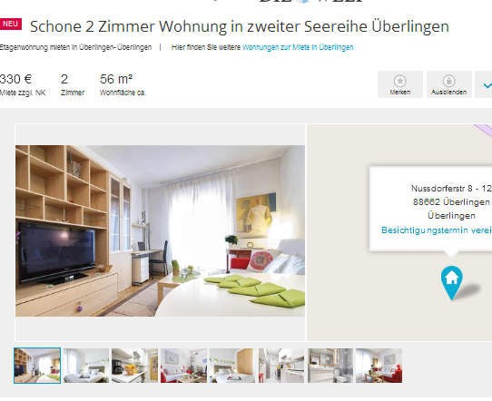 schone 2 zimmer wohnung in zweiter seereihe berlingen. Black Bedroom Furniture Sets. Home Design Ideas