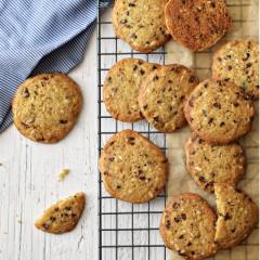 Receta para preparar galletas con cacao nibs y almendras