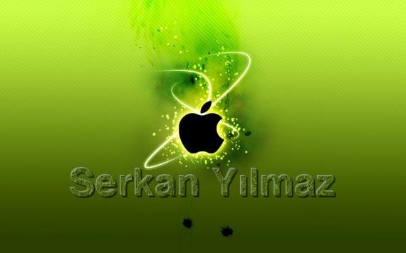 Apple Wallpaper Üzerine Yazı Yazma