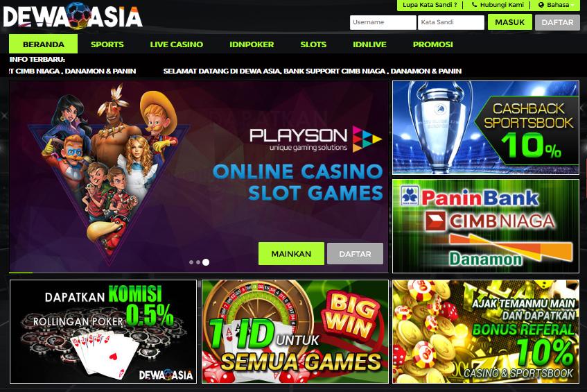 Dewaasia Situs Agen Game Judi Poker Online Terlengkap
