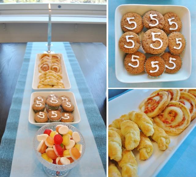 synttäritarjoilut, syntymäpäivä, tarjoilut, suolaiset, makeat, muffinit, sarvet, kinkkuhyrrät