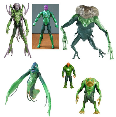 Green Lantern Movie Masters - G'Hu, Abin Sur, Rot Lop Fan, Naut Ke Loi, Kilowog & Green Man Action Figures