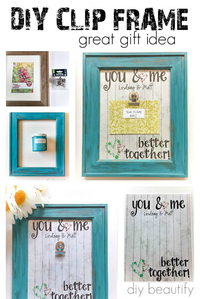 This DIY clip frame makes a fun and colorful gift! You can find the instructions at diy beautify.