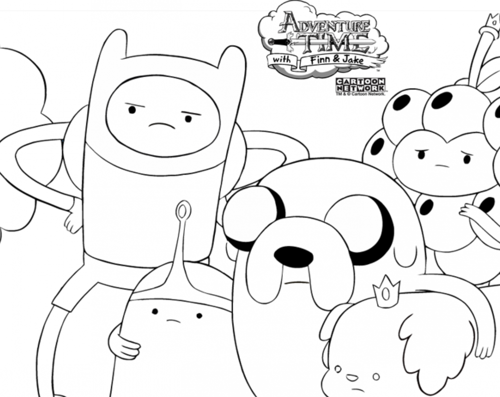 Cartoon Network Adventure Time With Finn And Jake Coloring
