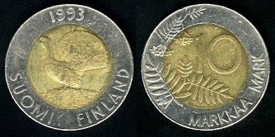Finland 10 Markka(1993+) Coin