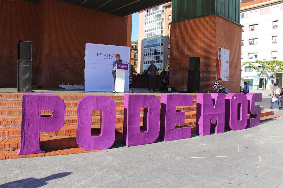 Acto electoral de Podemos en Herriko Plaza