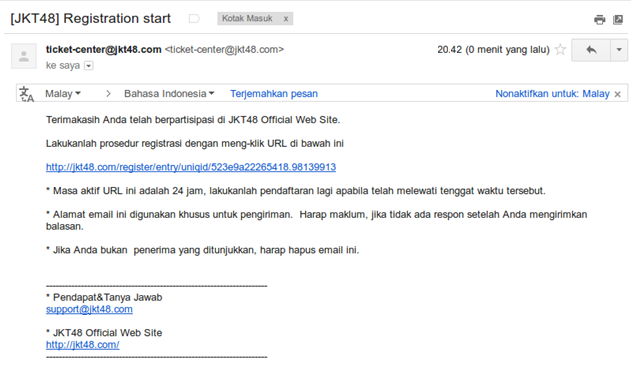 Email JOT