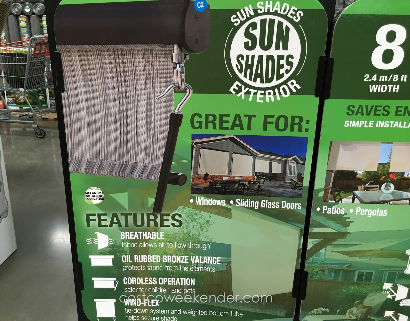 Solar Exterior Sun Shade   Cool Down Your Patio This Summer