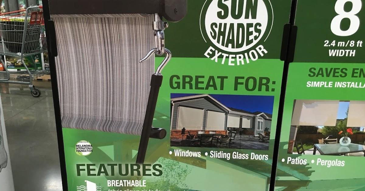 Solar Exterior Sun Shade Costco Weekender