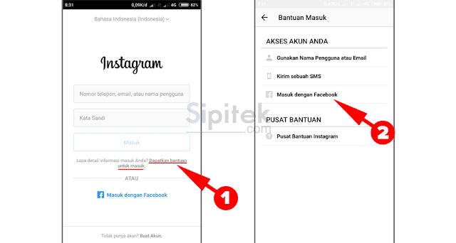 Lupa Password Instagram