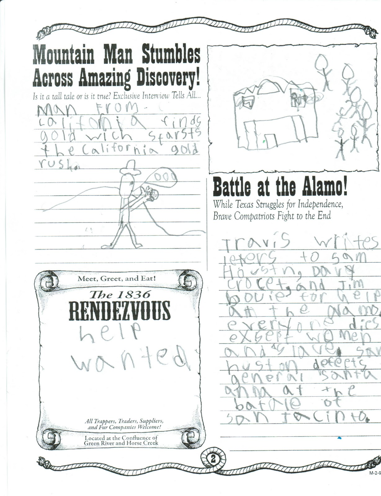 Printables Of Battle Of The Alamo Worksheets