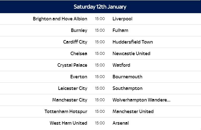 Calendario Premier League 2020 Pdf.Premier League 2018 19 Fixtures Released