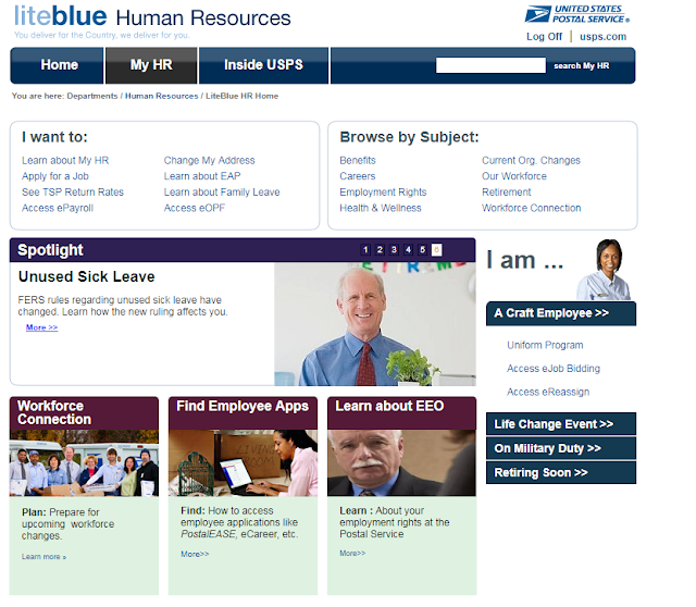 LiteBlue USPS Gov Human Resources Page details
