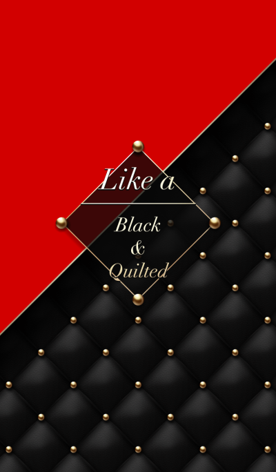 Like a - Black & Quilted *Rouge