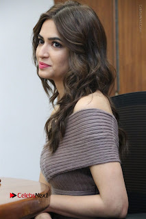 Actress Kriti Kharbanda Stills in Short Dress at Bruce Lee Movie Press Meet Stills  0004.jpg