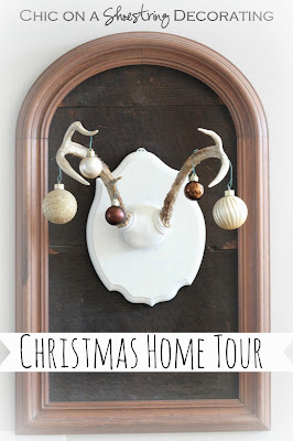 Chic on a Shoestring Decorating Christmas Home Tour Part 1