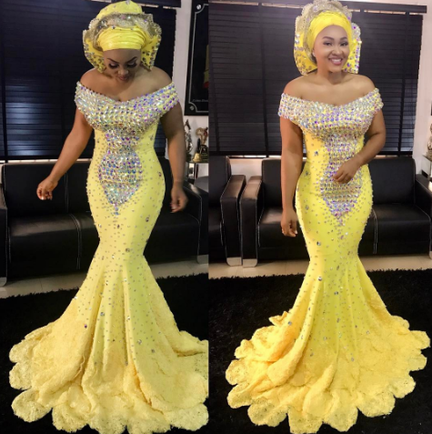 Check Out Mercy Aigbe Gentry In This Beautiful Yellow Dress