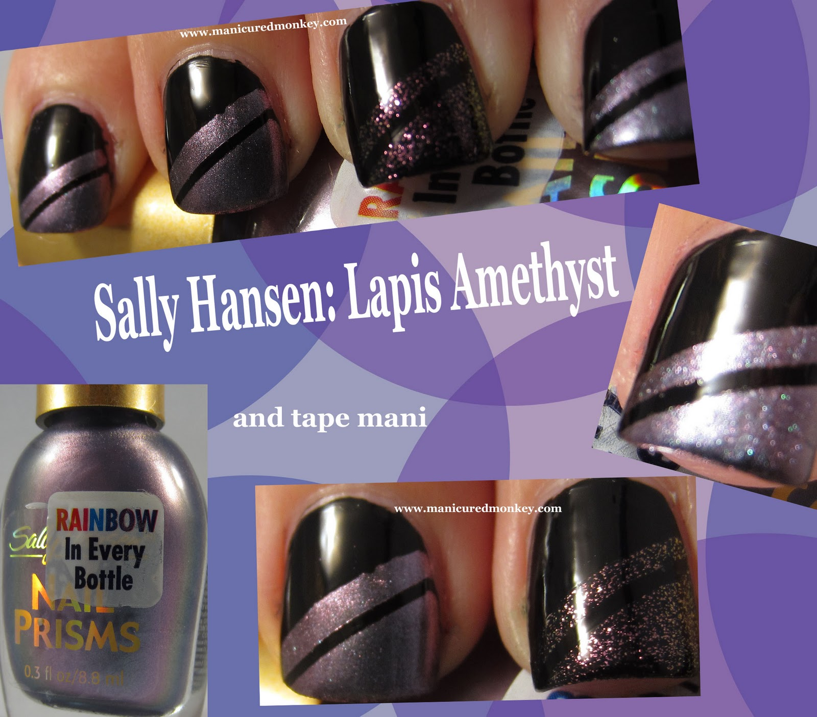 The Manicured Monkey Sally Hansen Lapis Amethyst