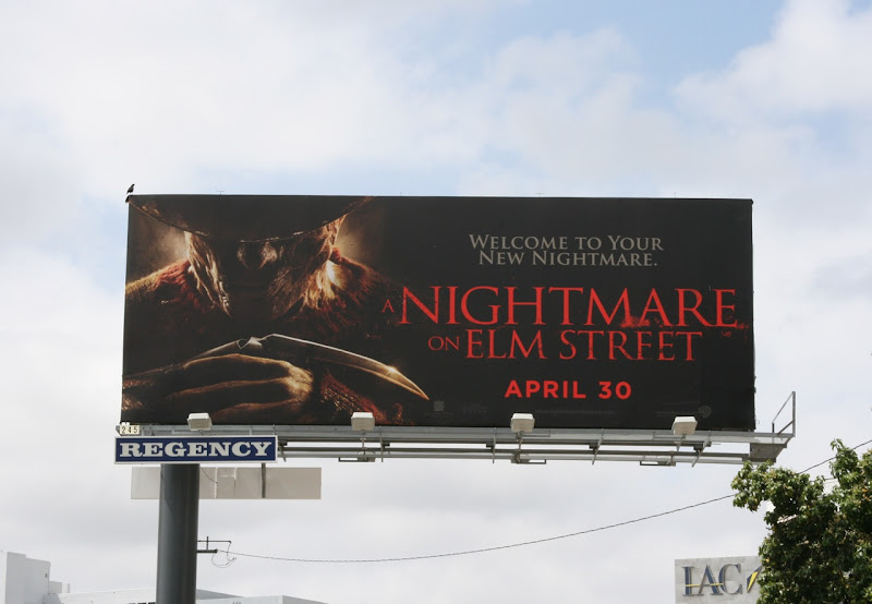 A Nightmare on Elm Street billboard