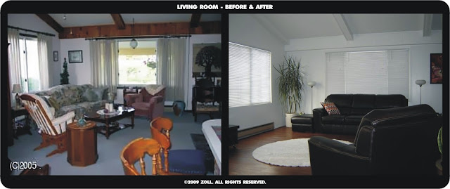 ©2009 Zoll - living room before and after