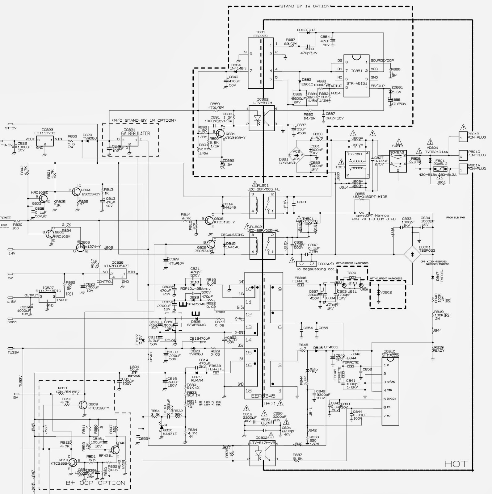 str x 6556 based smps schematic circuit diagram  [ 1593 x 1600 Pixel ]