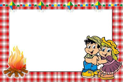 Festa Junina Kit Completo Com Molduras Para Convites Rótulos Para