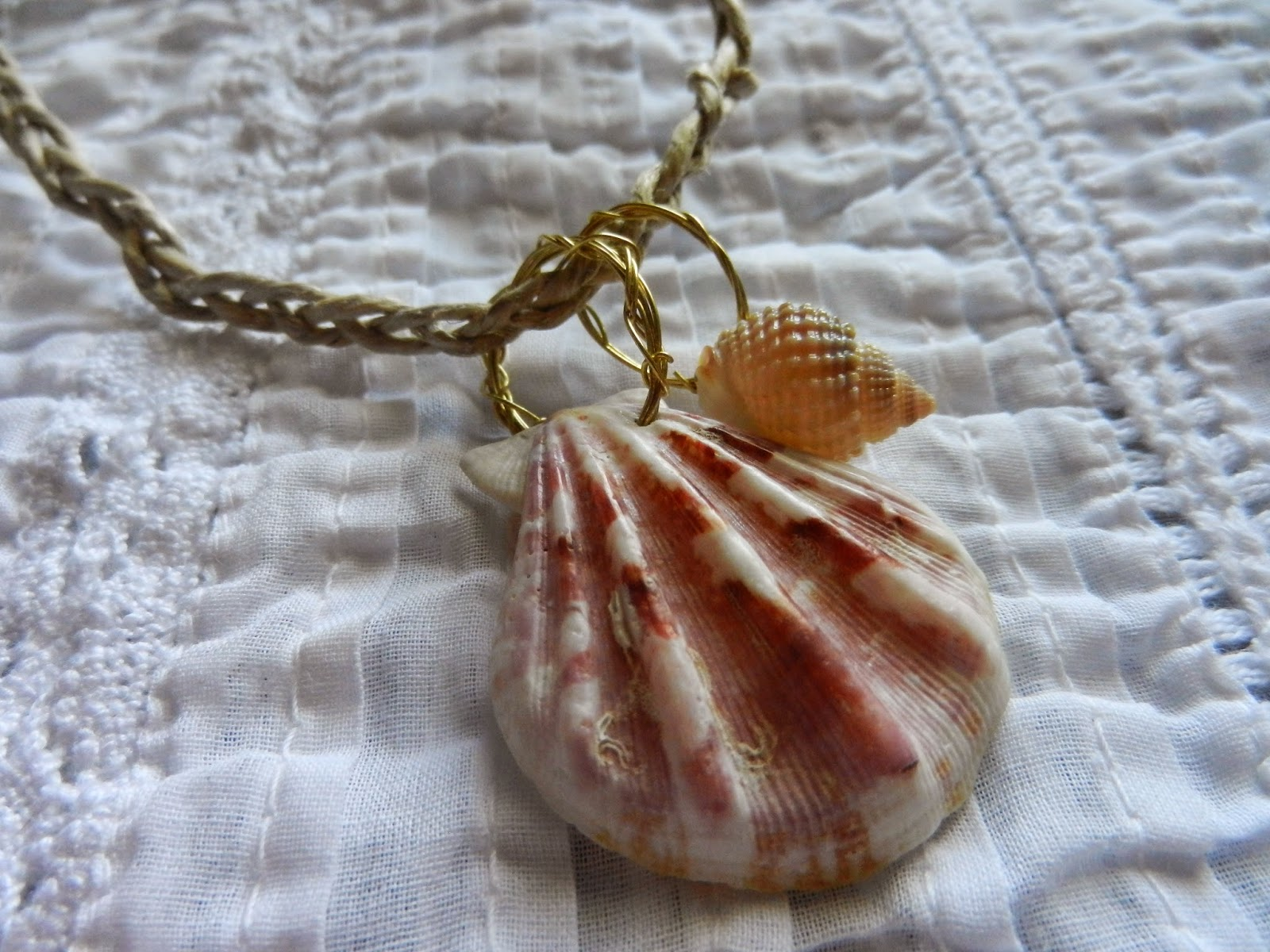 natural handmade shell necklace