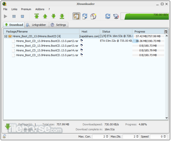 Free Software Download: JDownloader 0 9 581