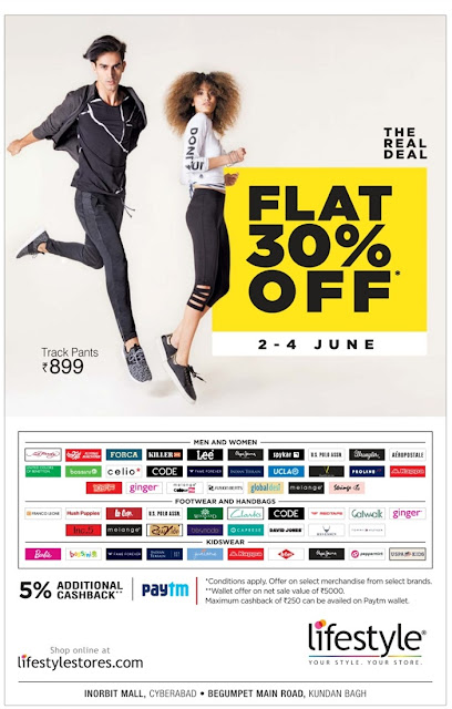 Flat 30% off in Life Style | June 2017 discount offers
